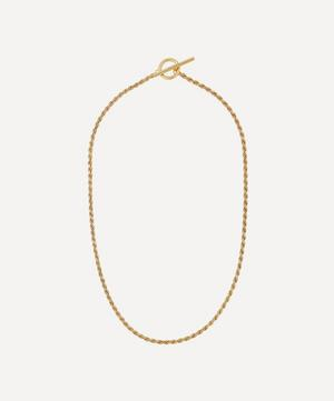 Gold Plated Vermeil Silver Rope Necklace
