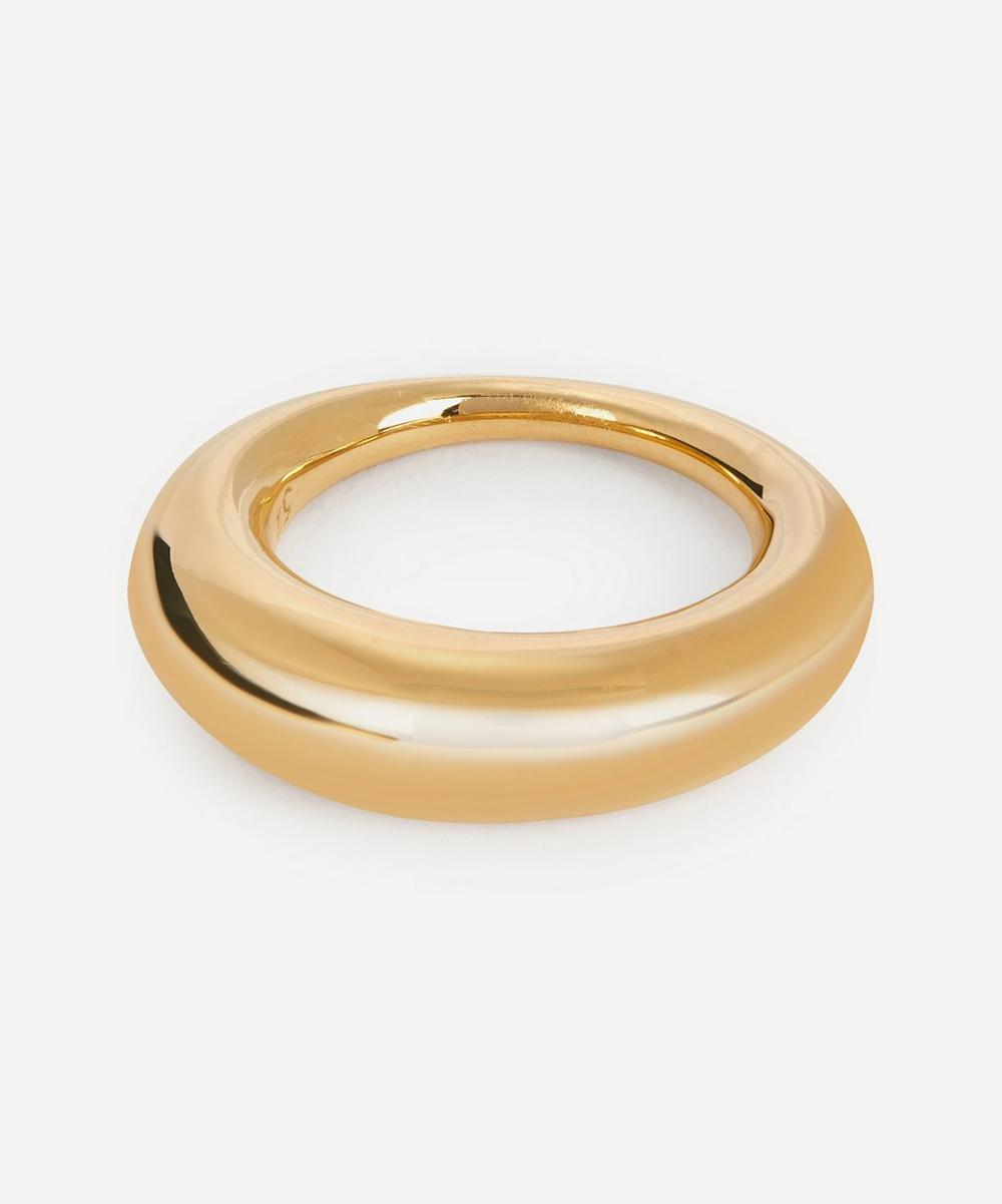 All Blues - Gold Plated Vermeil Silver Fat Snake Ring
