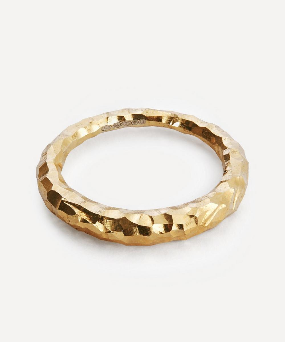 All Blues - Gold Plated Vermeil Silver Hungry Snake Carved Ring