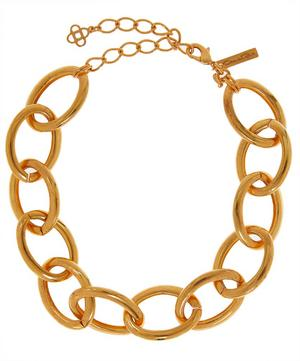 Gold-Tone Oversized Chain Necklace