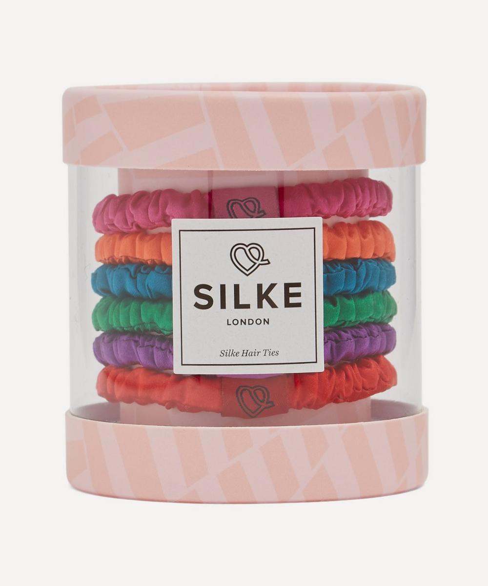 SILKE London - Frida Silk Hair Ties Pack of Six