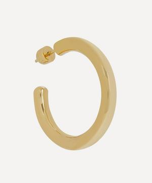 Gold-Plated Ruby 35 Hoop Earring
