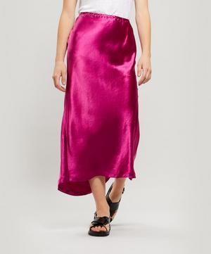 Xael Satin Midi-Skirt