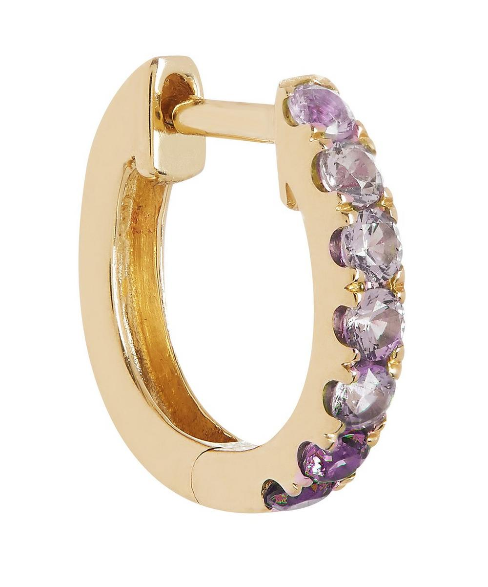 Roxanne First - Gold Ombre Sapphire Huggie Hoop Earring
