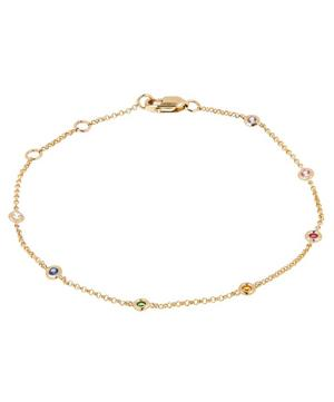 Gold Skittle Rainbow Sapphire Bracelet