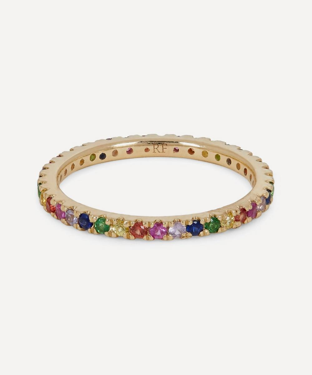 Roxanne First - Gold Rainbow Sapphire Eternity Ring
