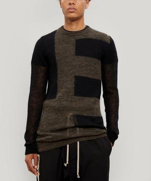 Sheer Block Stripe Knitted Sweater