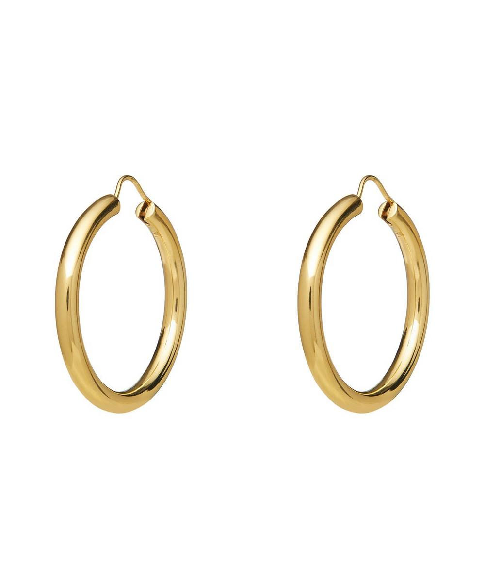 Theodora Warre - Gold-Plated Simple Hoop Earrings