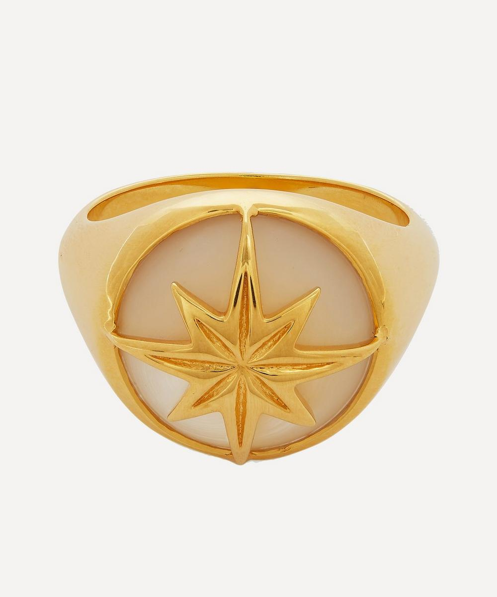 Theodora Warre - Gold-Plated Mother of Pearl Star Ring