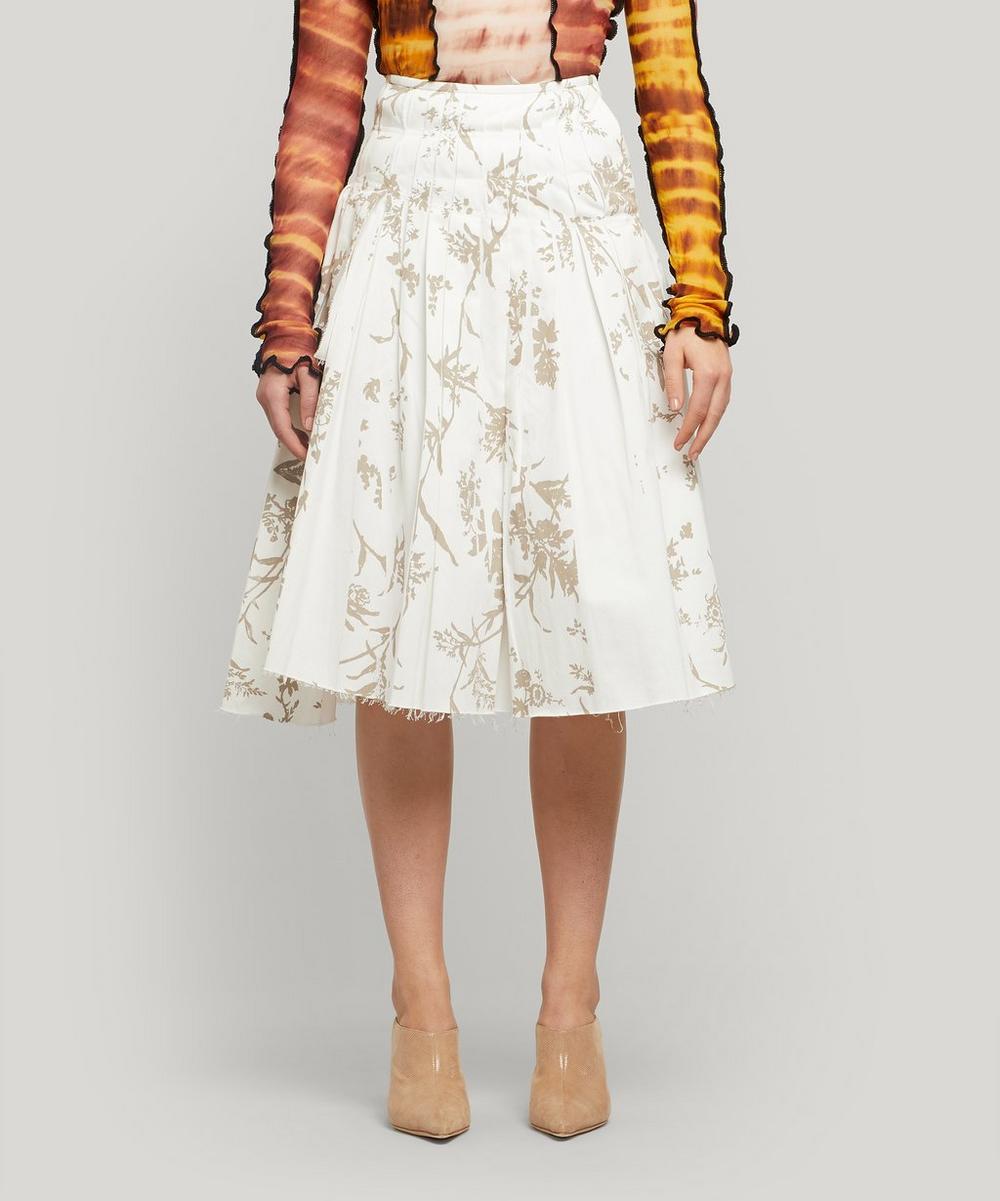 ASAI - Bake Floral Pleated Cotton Midi-Skirt