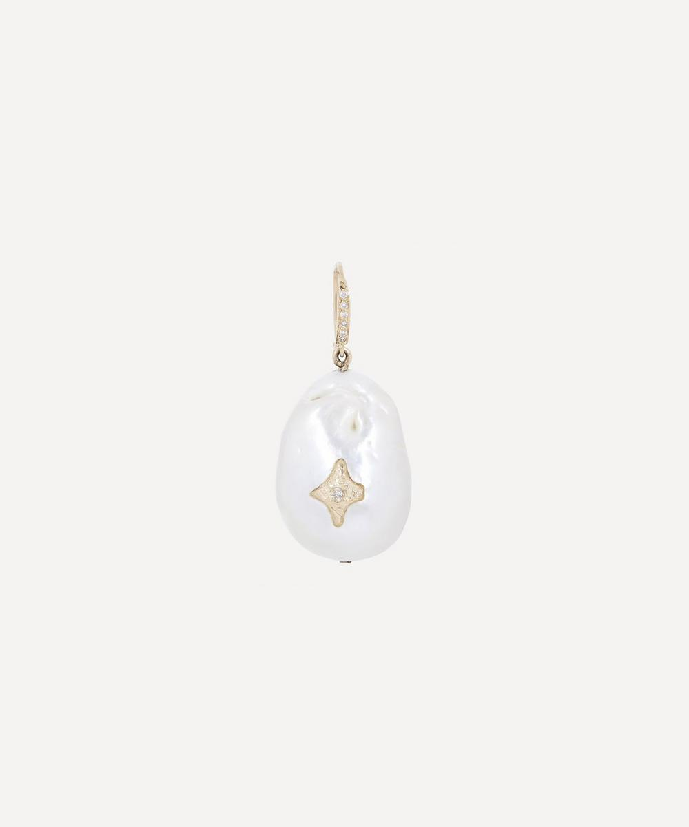 Pascale Monvoisin - Gold Charlie N°2 Diamond and Pearl Drop Earring