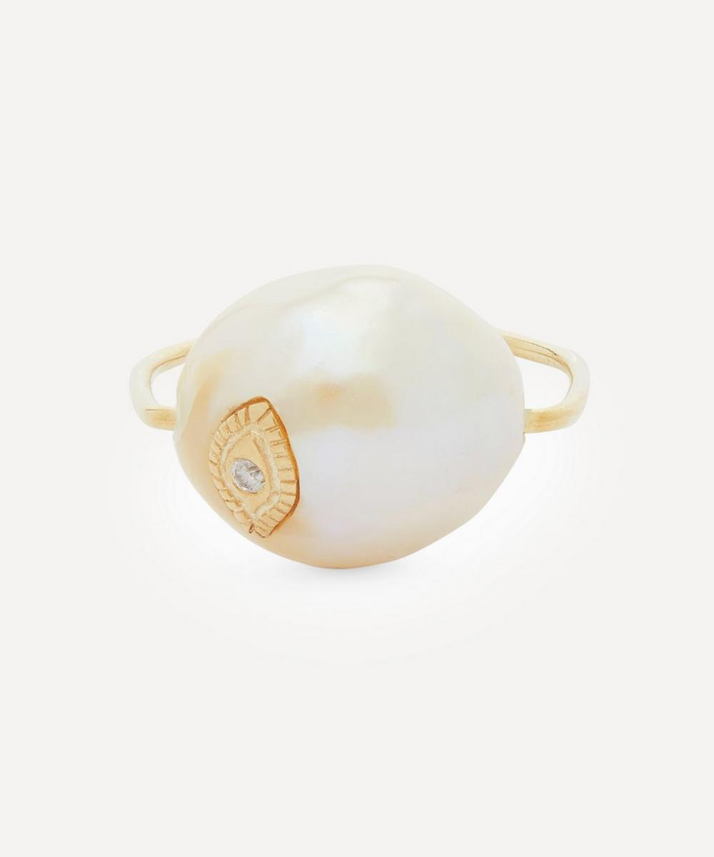 Pascale Monvoisin - Gold Charlie Pearl Ring