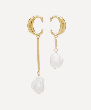 Gold-Tone Darcey Asymmetric Pearl Drop Earrings