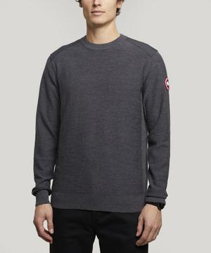 Dartmouth Logo Patch Crew-Neck Sweater