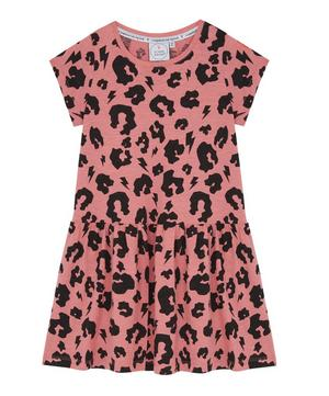 Leopard Lightning Bolt Dress 1-8 Years