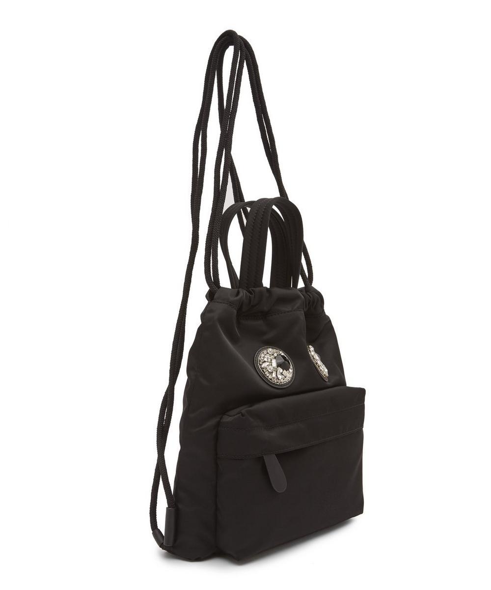 Mini Crystal Eyes Drawstring Backpack