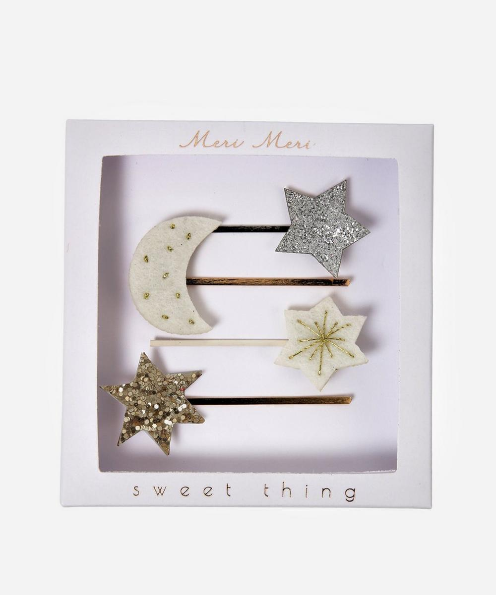 Meri Meri - Moon Star Hair Slides Set of Four