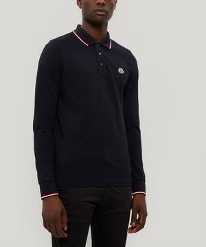 Long-Sleeve Cotton Polo Shirt
