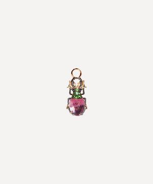 18ct Rose Gold Mythology Amethyst Beetle Single Earring Drop