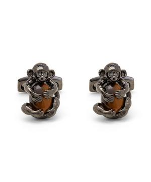 Darwin Cheeky Monkey Tigereye Cufflinks