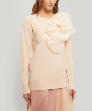 Awa Wool and Cashmere-Blend Gathered Sweater