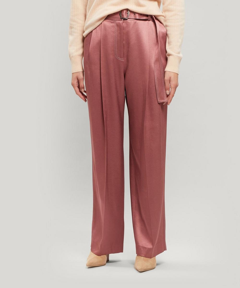 Sies Marjan - Blanche Satin Wide-Leg Trousers