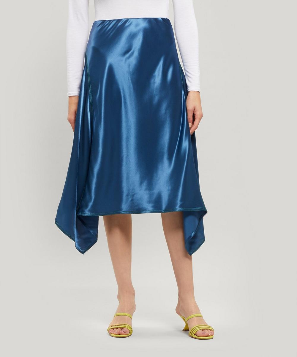 Sies Marjan - Darby Asymmetric Satin Midi Skirt