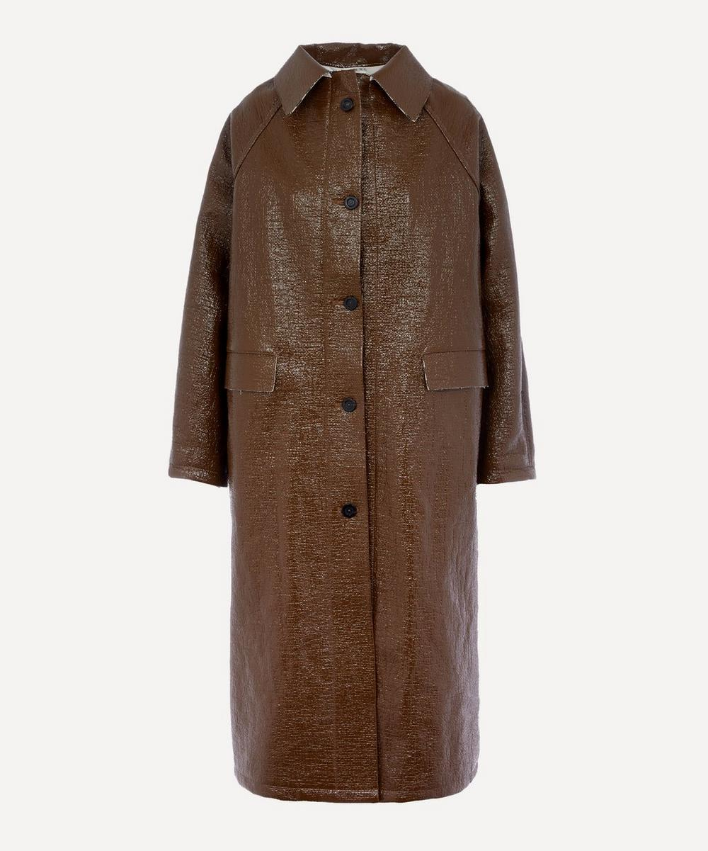 KASSL Editions - Double-Faced Lacquer Longline Coat