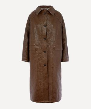 Double-Faced Lacquer Longline Coat