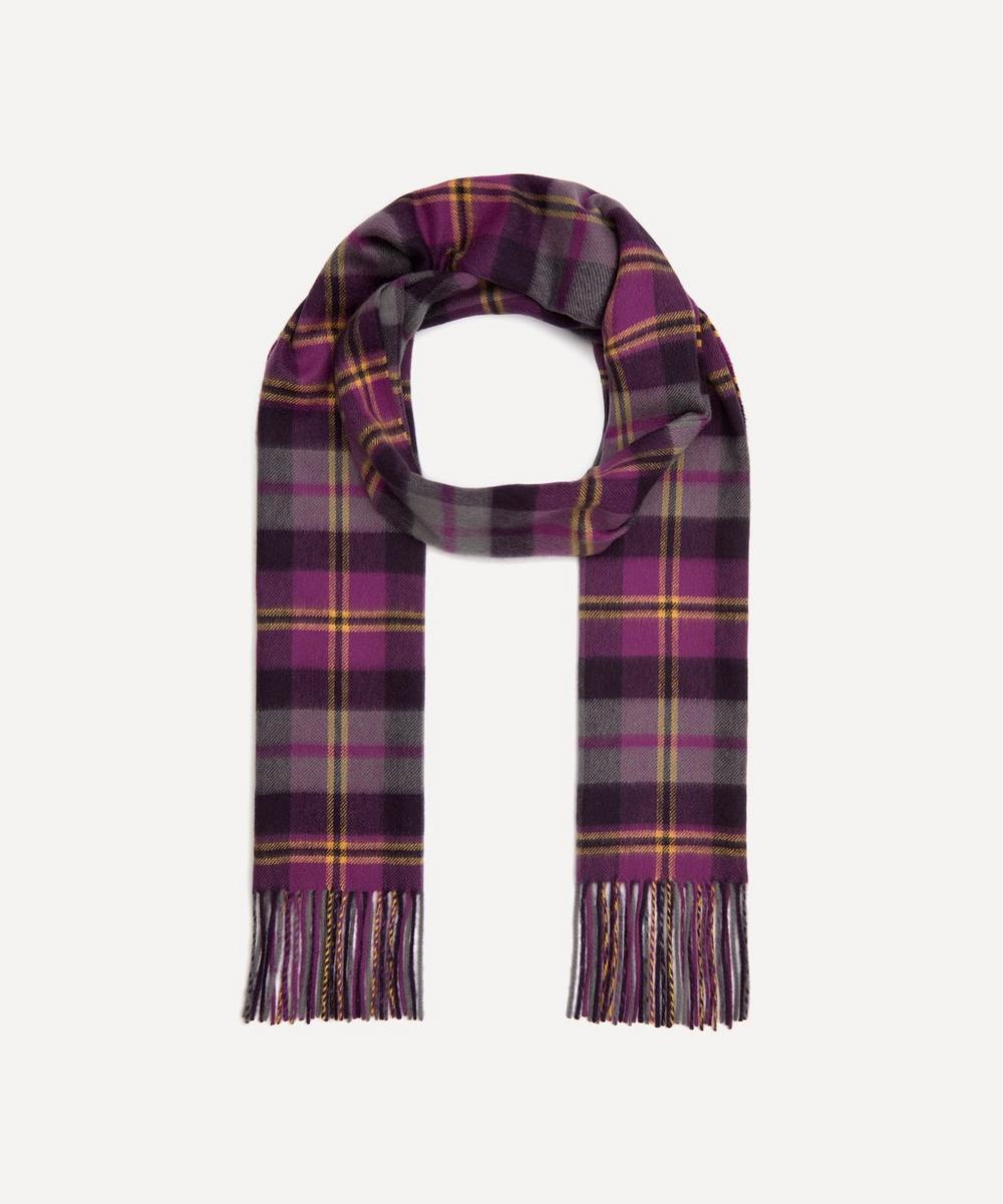 Johnstons of Elgin - Cashmere Purple Tartan Scarf