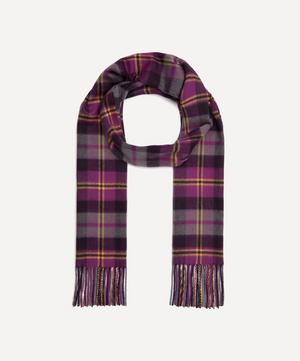 Cashmere Purple Tartan Scarf