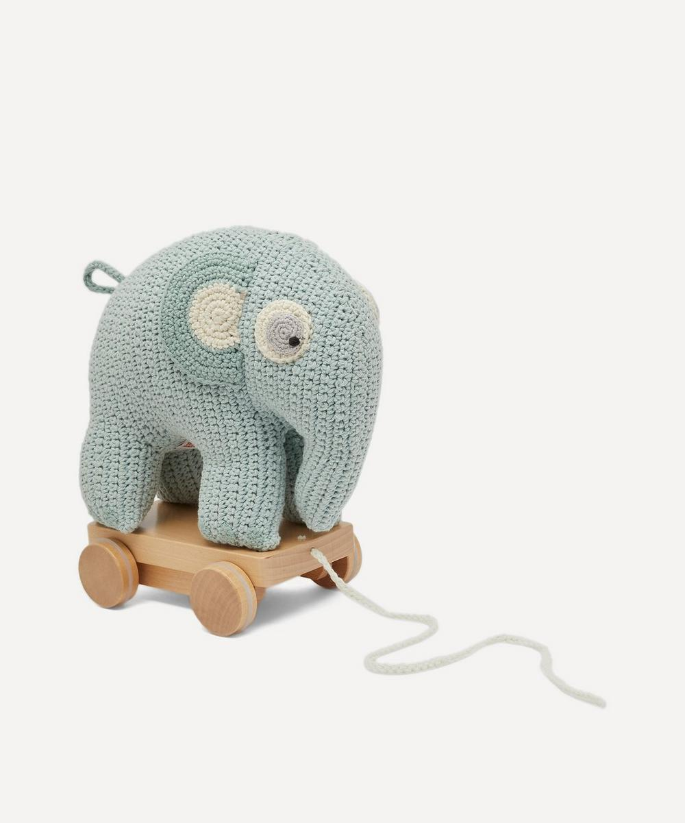 Sebra - Crochet Elephant Pull-Along Toy