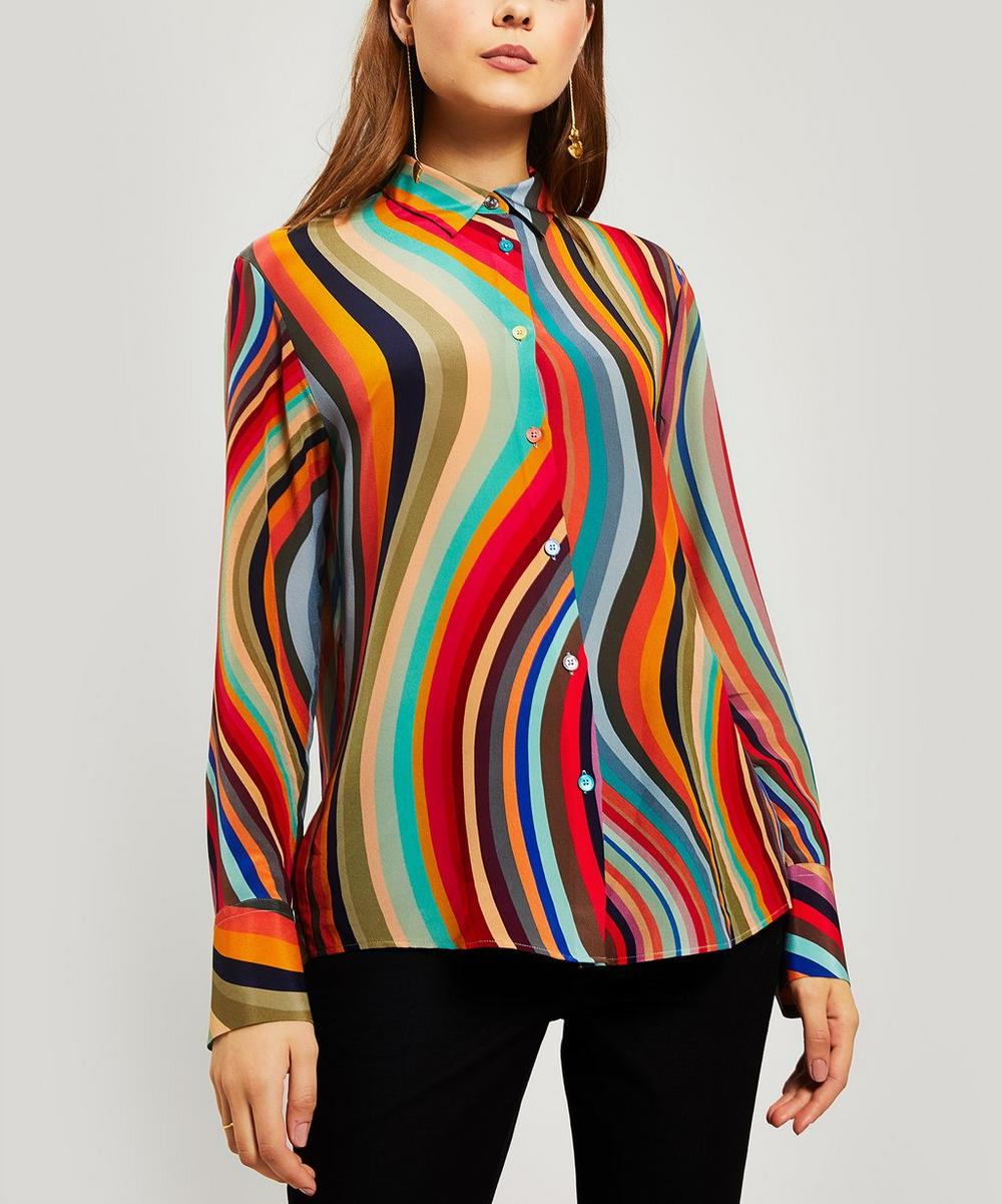 PS Paul Smith - Classic Swirl Stripe Silk Shirt