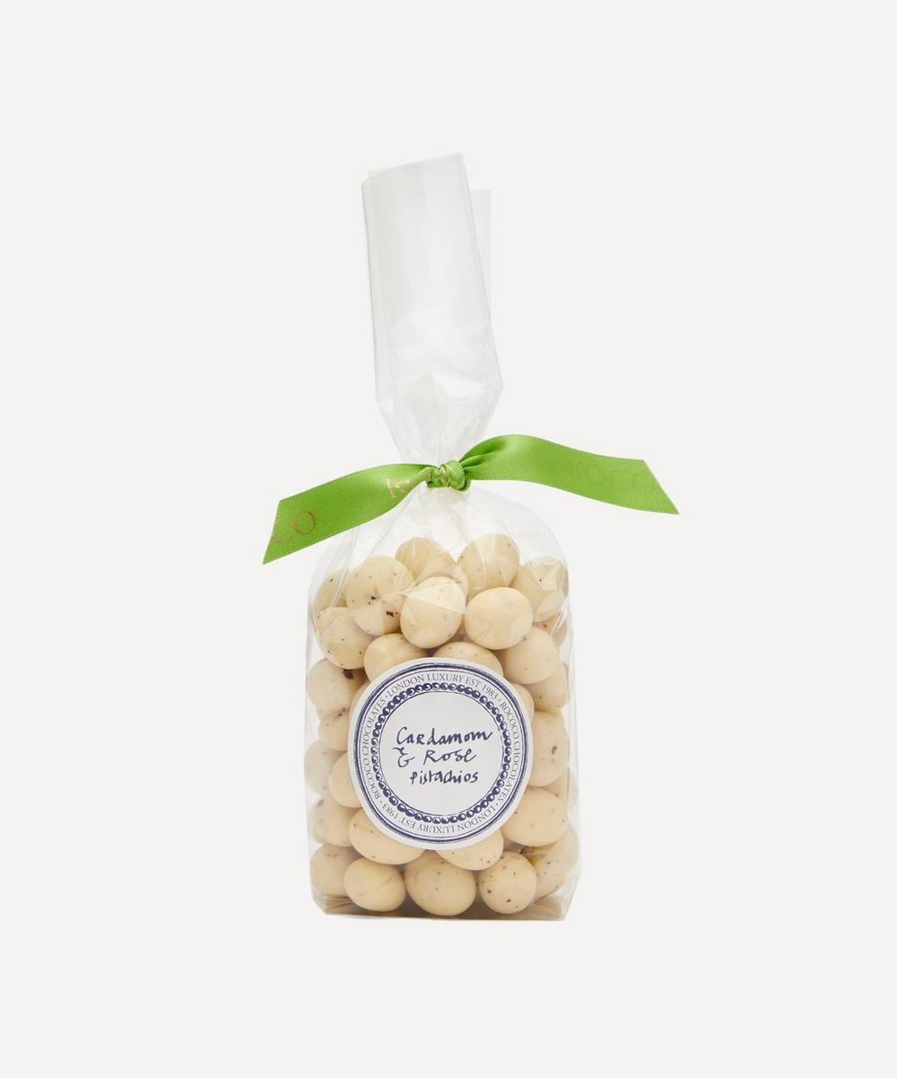 Rococo - White Chocolate Pistachios with Cardamom and Rose 200g