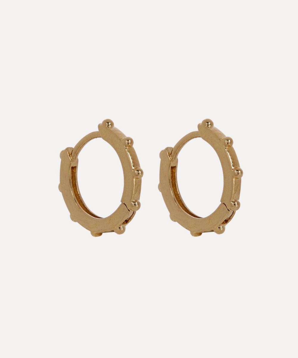 Estella Bartlett - Gold-Plated Granulated Huggie Hoop Earrings