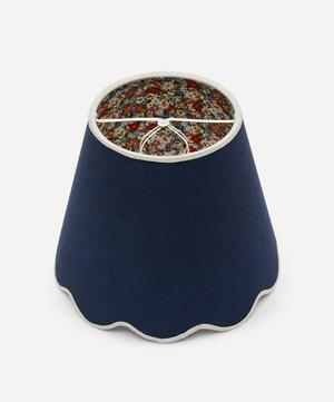 Small Scalloped Ramie Liberty Print Lampshade in Libby