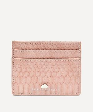 Snake Print Faux Leather Card Holder