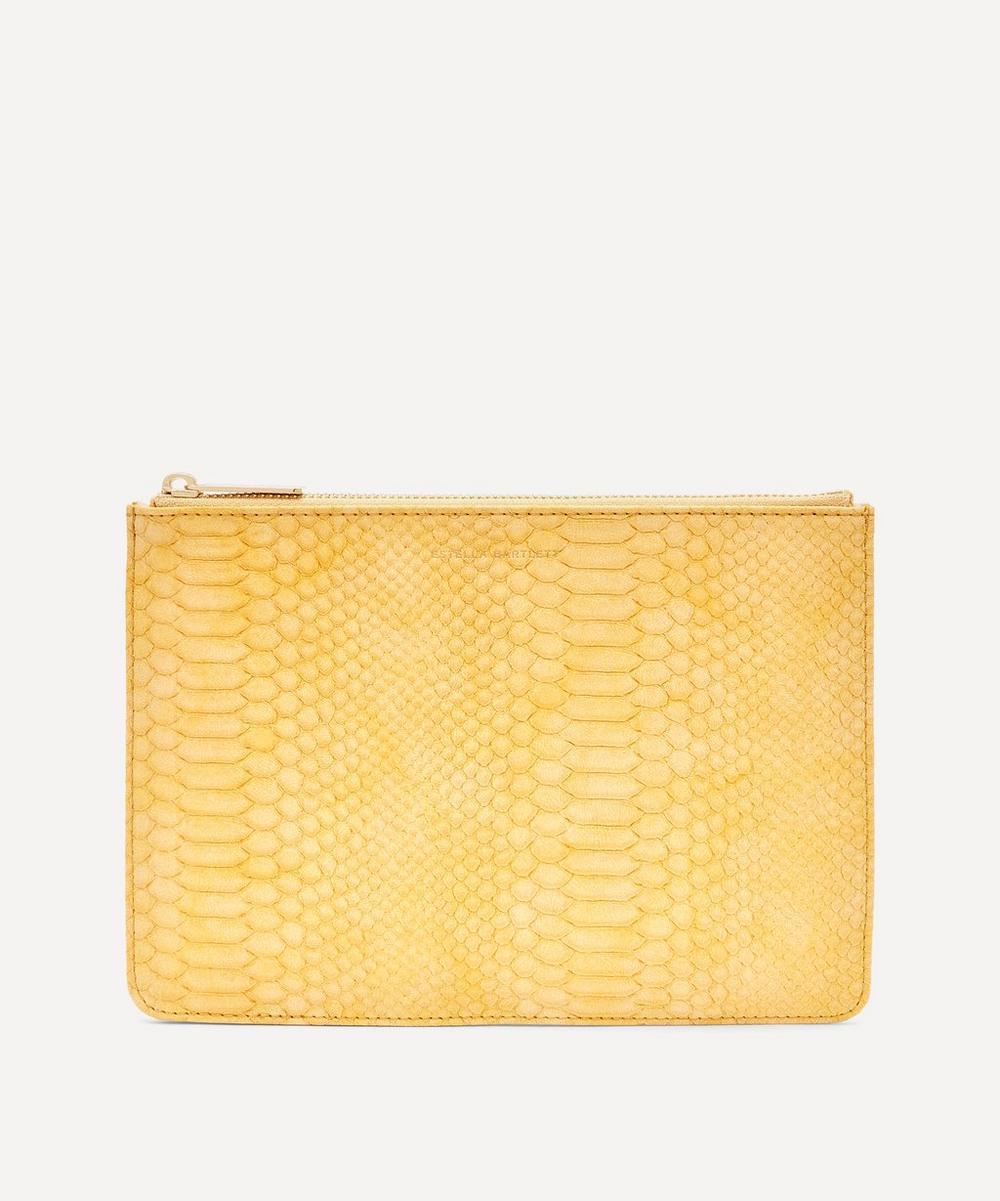 Estella Bartlett - Snake Print Faux Leather Medium Pouch