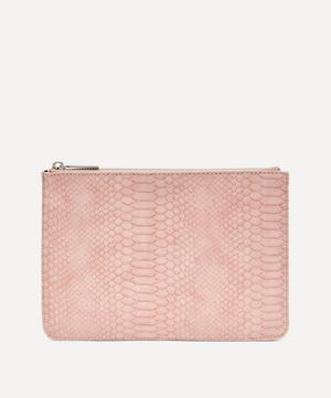 Snake Print Faux Leather Medium Pouch