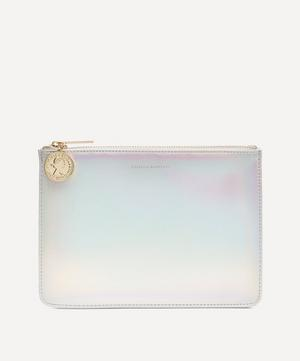 Lucky Coin Faux Leather Medium Pouch