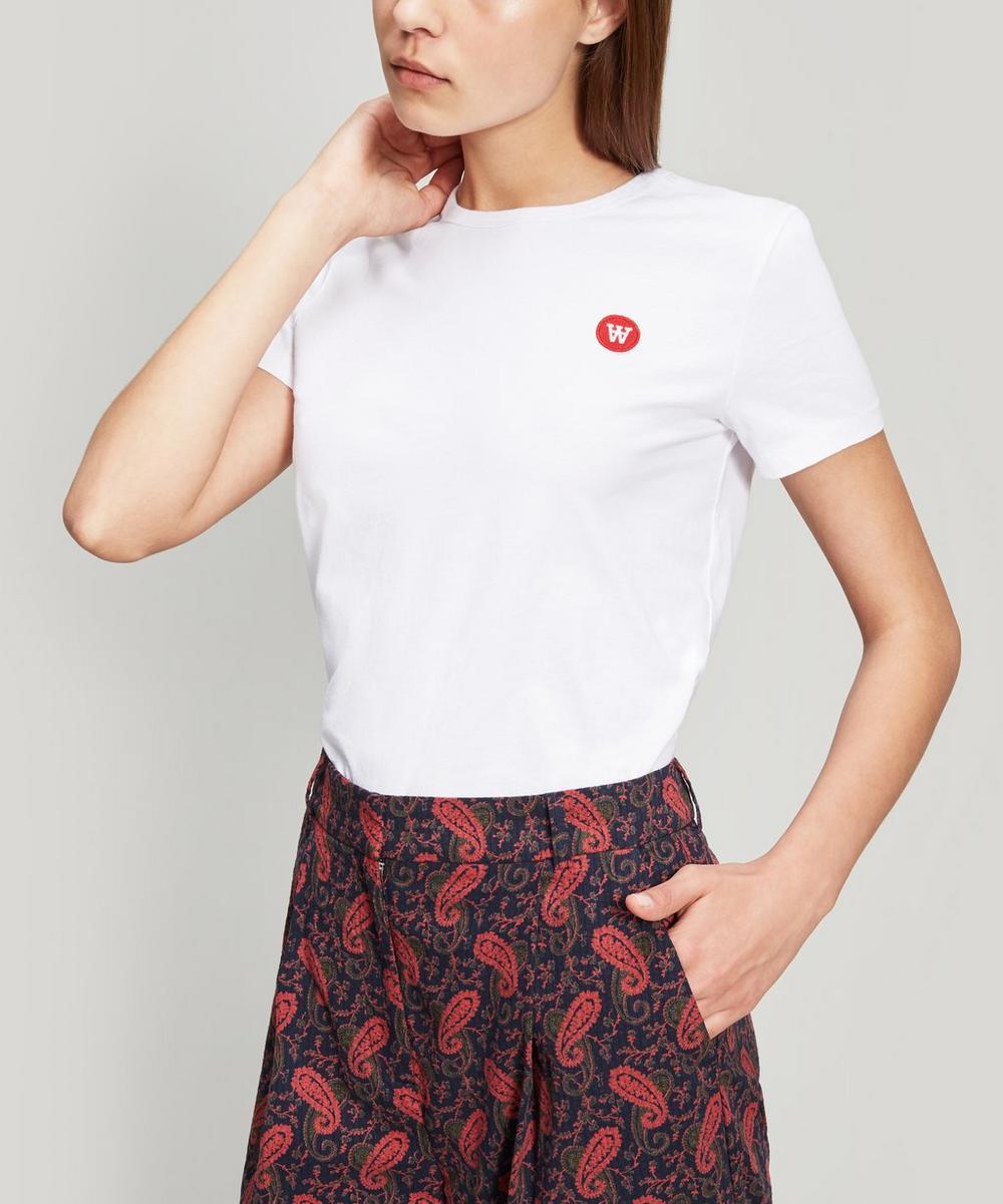 Wood Wood - Uma Double A Logo Cotton T-Shirt