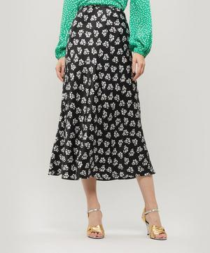 Kelly Antique Floral Print Midi-Skirt