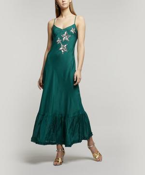 Odelia Frill Hem Slip-Dress