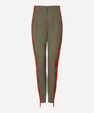 Side Stripe Houndstooth Check Trousers