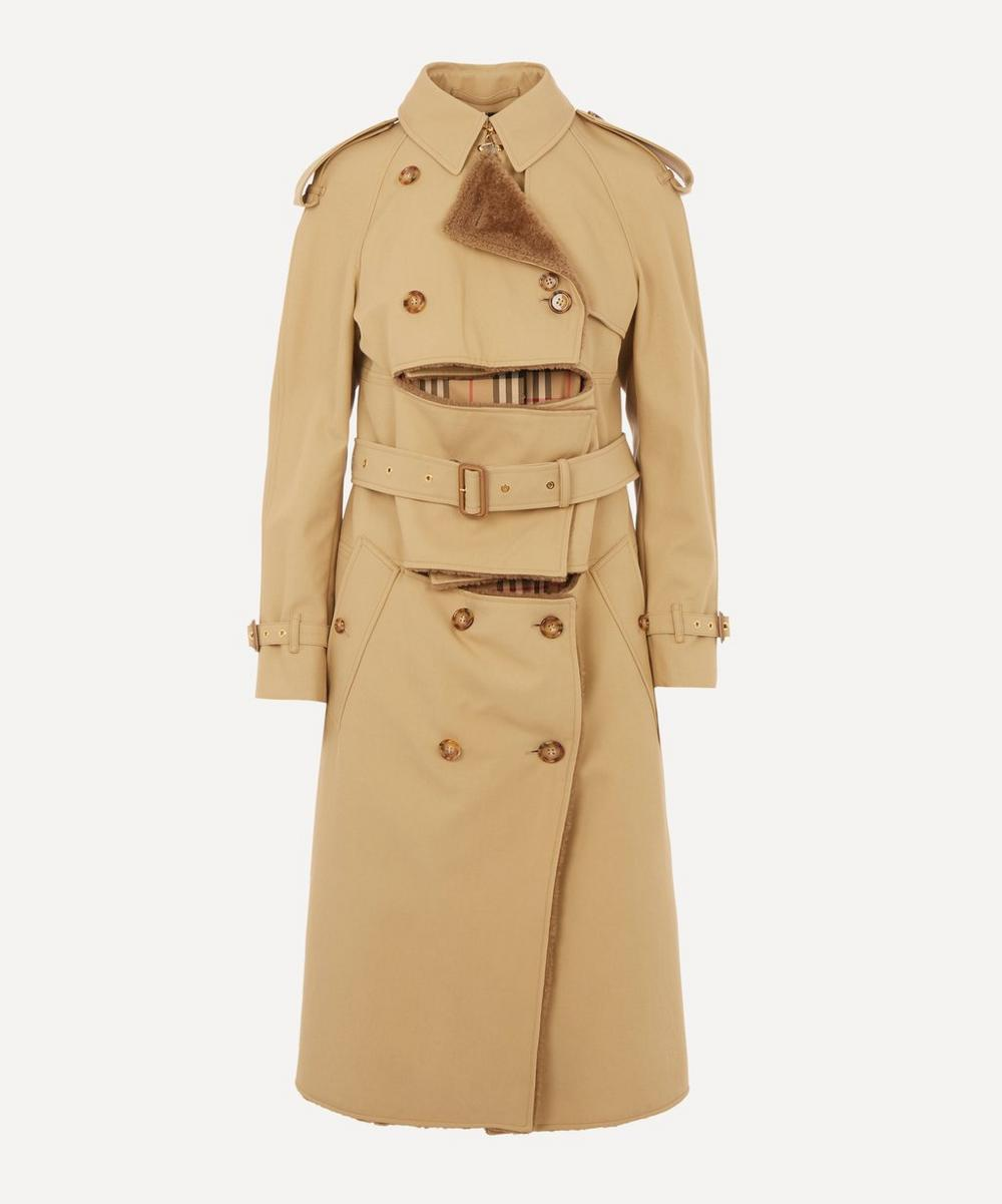 Burberry - Deconstructed Shearling Trench Coat