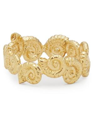 Gold-Plated Ammonite Wreath Ring