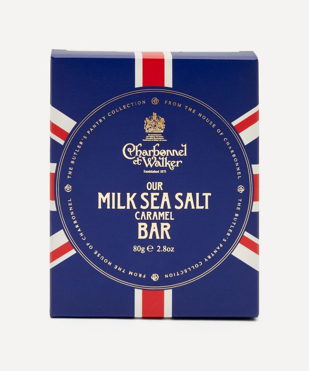 Charbonnel et Walker - Butler's Pantry Union Jack Sea Salt Milk Chocolate Bar 80g