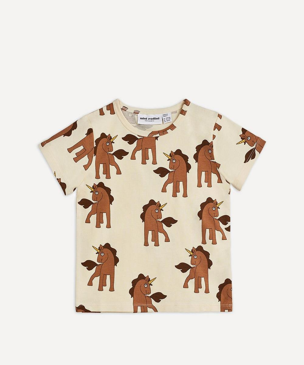 Mini Rodini - Unicorns Organic Cotton T-Shirt 3-18 Months