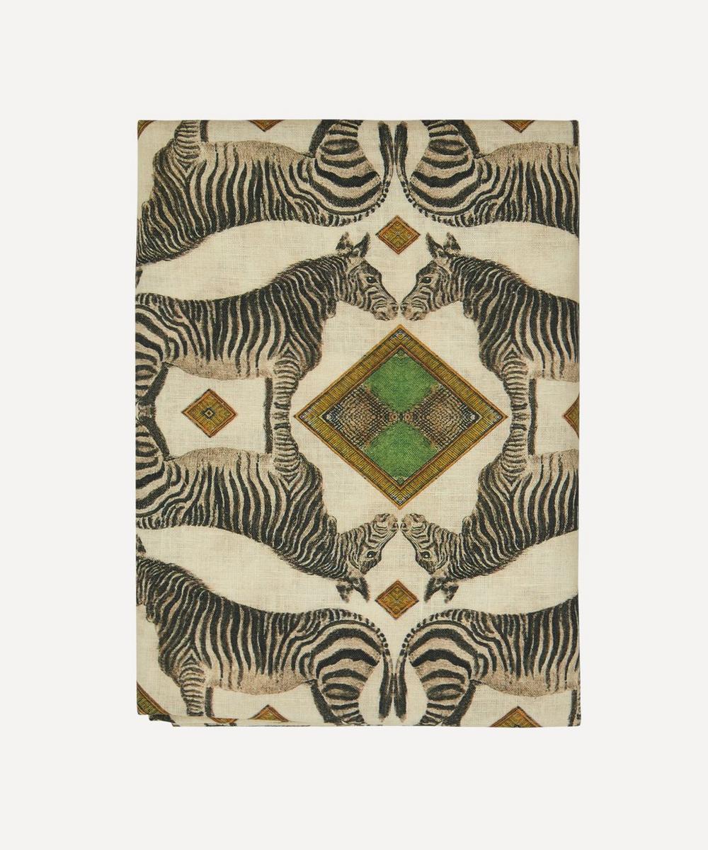 Avenida Home - Zebra Large Linen Tablecloth