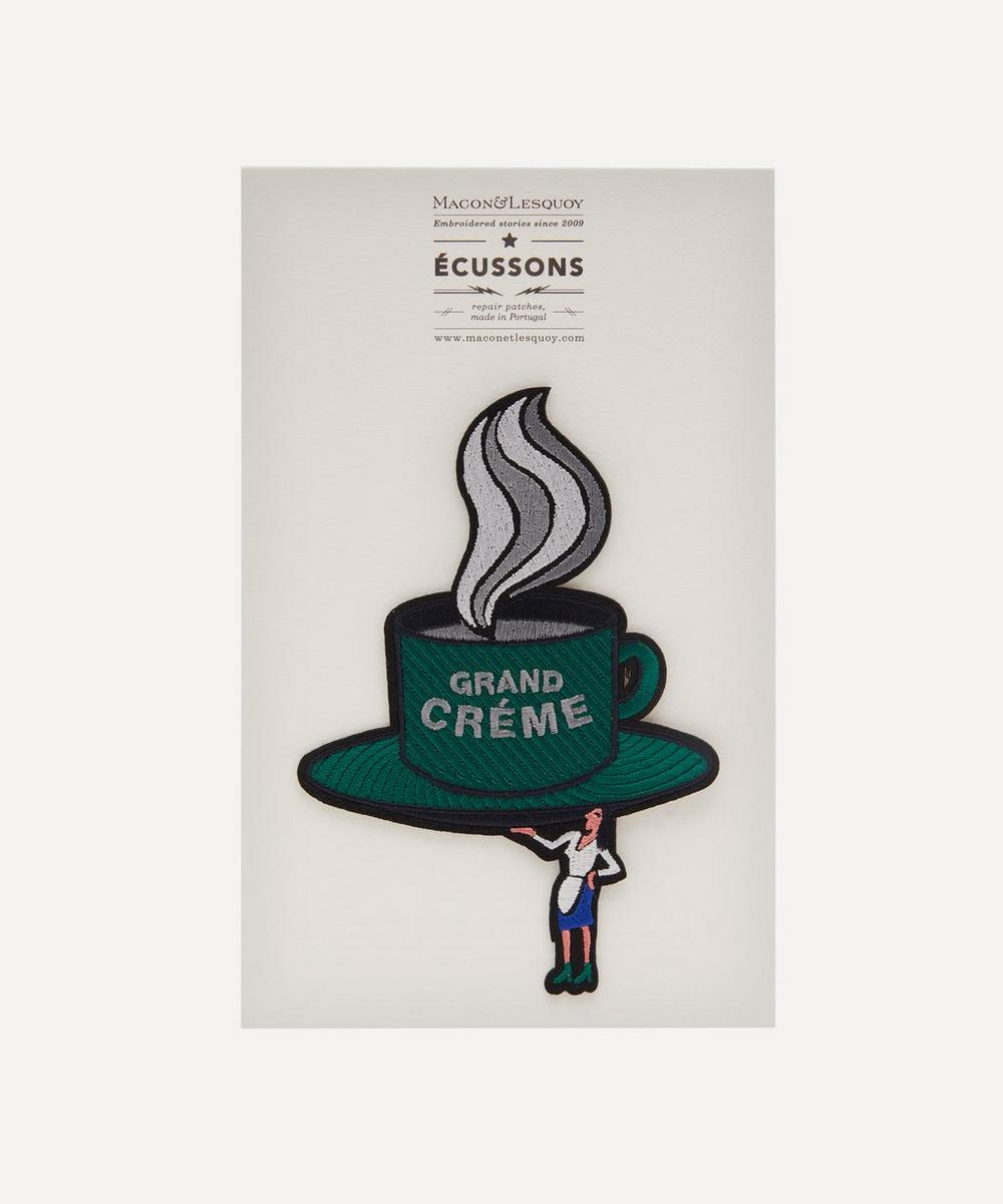 Macon & Lesquoy - Grande Coffee Embroidered Patch